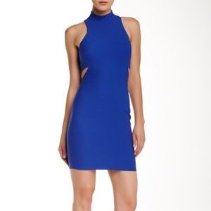 Elizabeth and James Blue Dress with Cutouts
